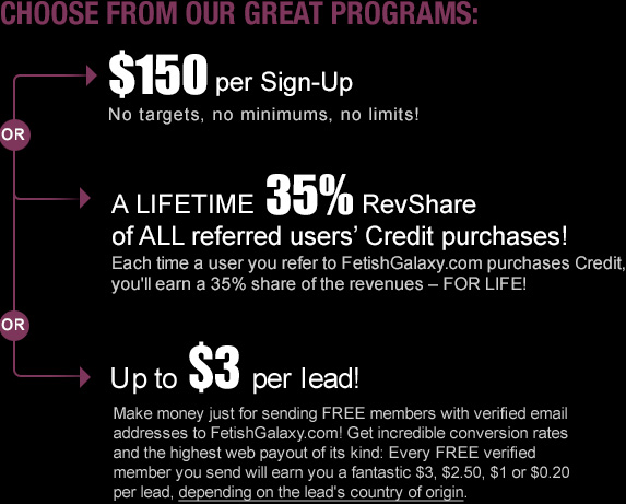 $150 Per Sign-up or Lifetime 35% RevShare!