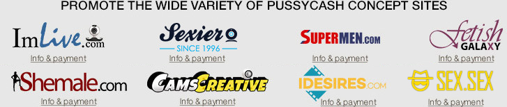 Promote the wide variety of pussycash concept sites